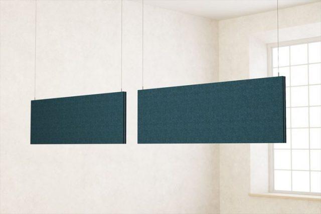より天井に近い高い位置に据え付けることができるので、より吸音効果を期待できます。